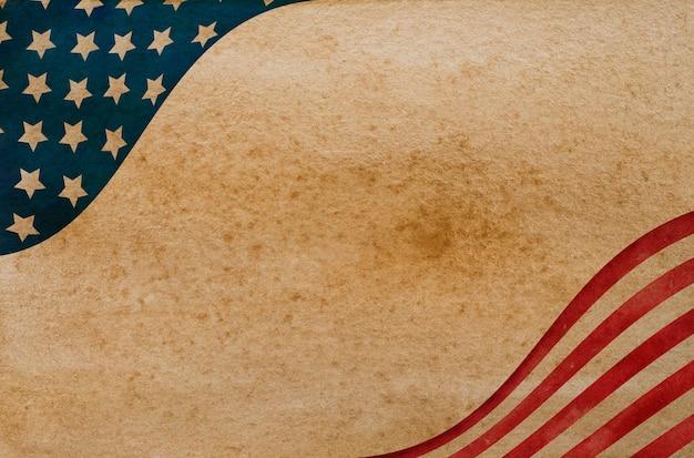 Красивый узор с цветами американского флага.
