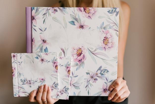 Красивые фотоальбомы или фотокниги в весеннем стиле