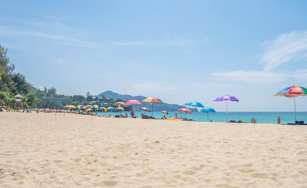 Beautiful phuket thailand summer beach