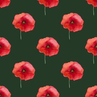 양귀비 꽃의 아름다운 그림입니다. 현충일 축하합니다. 클로즈업, 상위 뷰입니다. 국경일 개념입니다. 가족, 친척, 친구 및 동료를 위한 축하
