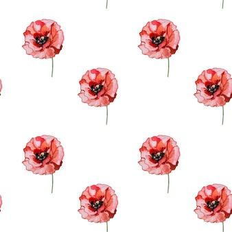 양귀비 꽃의 아름다운 그림.