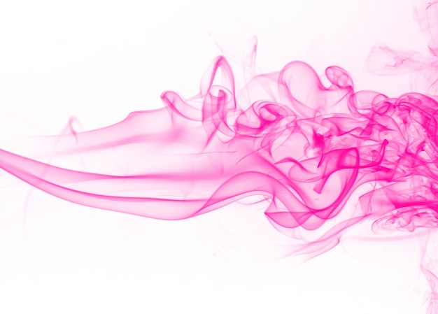 Beautiful pink smoke abstract on white background
