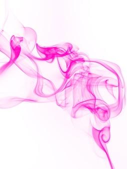 Beautiful pink smoke abstract on white background