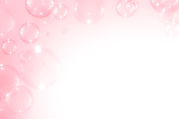 Beautiful pink soap bubbles background.