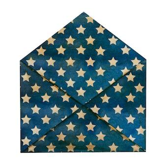 미국 국기의 국가 색으로 그려진 아름다운 우편 봉투