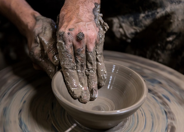Beautiful pottery making in thailand