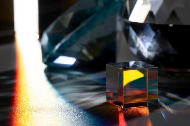 아름 다운 프리즘 빛 개념