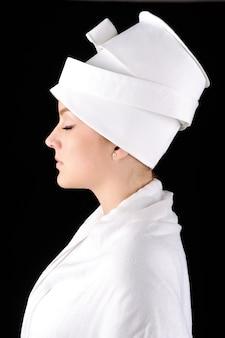 Beautiful profile of white woman