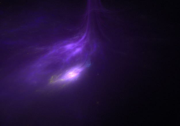 Beautiful purple nebula universe background