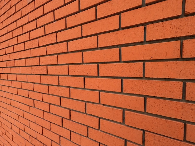 美しい赤レンガの壁の背景
