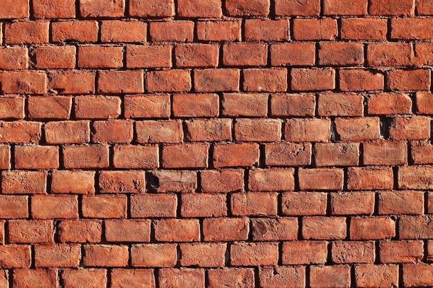 Красивая красная кирпичная стена для поверхности или текстуры