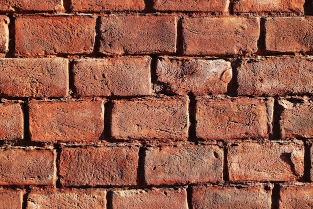 Beautiful red brick wall for surface or texture