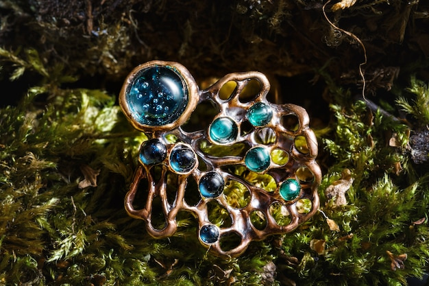Beautiful ring with nature ornament