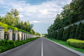 Beautiful road in countryside area