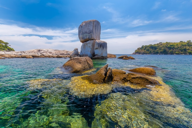 Beautiful rock at koh hin son in thailand
