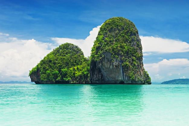 라일레이 해변, 크라비, 태국의 아름다운 바위