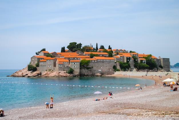 Beautiful and romantic island of sveti stefan
