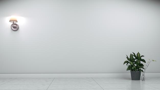Красивая комната, пустая комната, современный яркий интерьер. 3d рендеринг