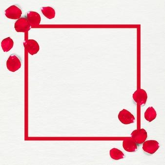 프레임이 있는 아름다운 장미 꽃잎 결혼식 꽃
