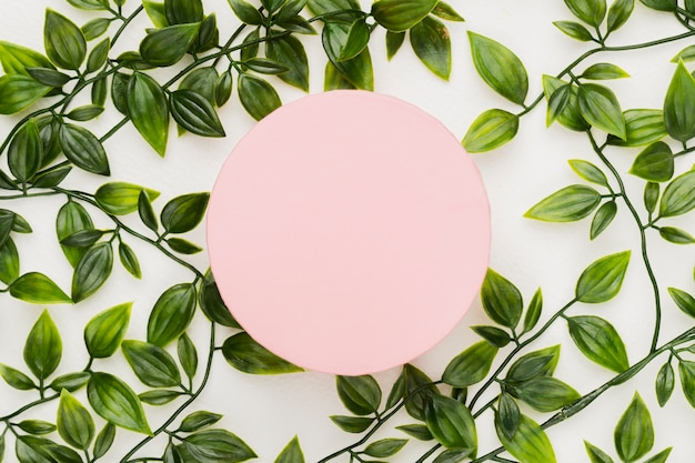 Beautiful round card template for wedding