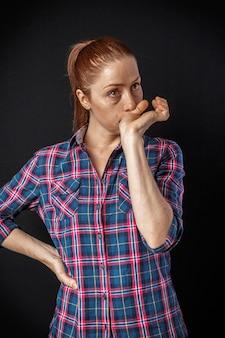 Beautiful and sad woman crying