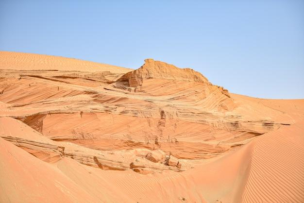Beautiful sand dunes in the sahara desert background landscape