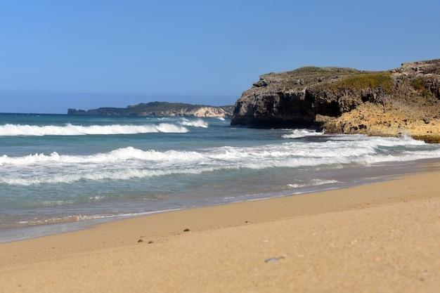 아름다운 모래사장. 도미니카 공화국
