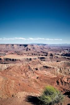 Splendido scenario di un paesaggio di canyon nel dead horse point state park, utah, usa