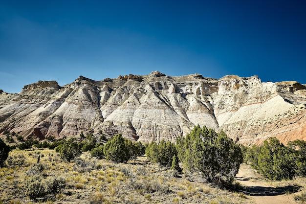Beautiful scenery of a canyon landscape in kodachrome basin state park, utah, usa