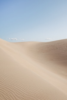 Beautiful scenery of a desert under the clear sky