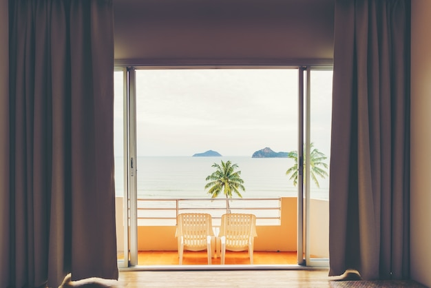 Beautiful scenery from bedroom viewing ao manao bay at prachuap khiri khan