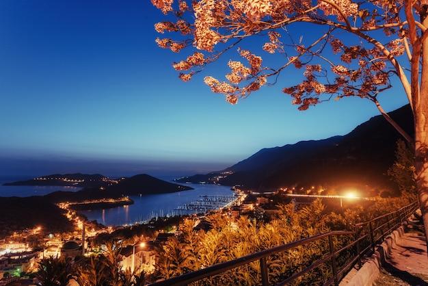 Красивые пейзажи светильников и скал вдоль прибрежного шоссе алон