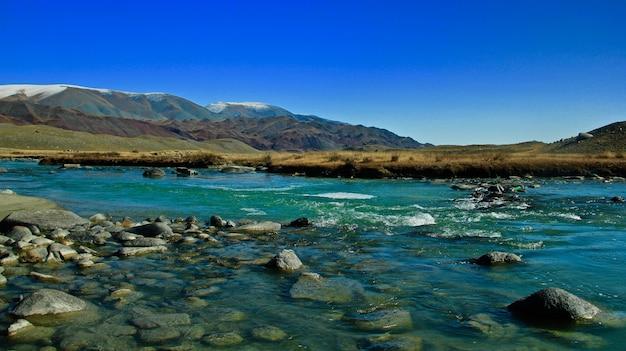 Splendido scenario della natura selvaggia e del paesaggio mongolo