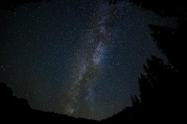은하수 은하의 아름다운 풍경-멋진 배경에 적합