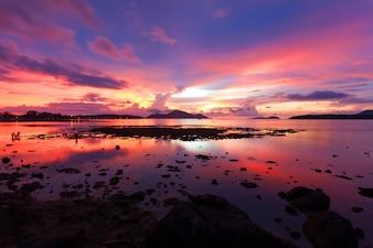 Beautiful scenery sunset