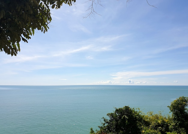 Beautiful scenic coastline route along the coast of the gulf of thailand