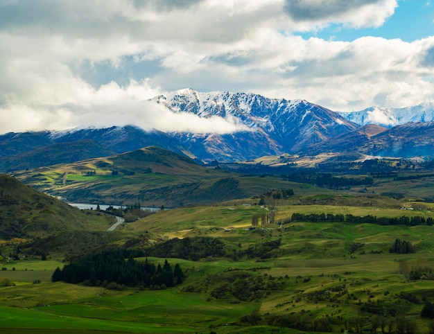 Beautiful scenic of queenstown southland new zealand