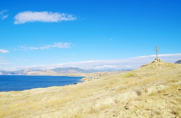 Красивое море и голубое небо