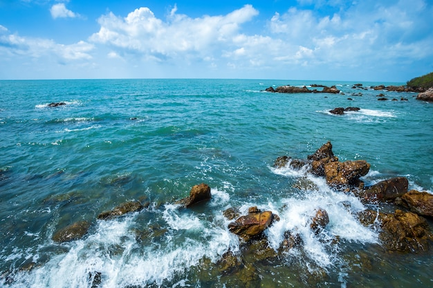 Beautiful the sea at hat chao lao beach