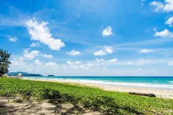 美しい海。カロンビーチ、プーケット、タイ