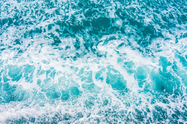 Beautiful sea and ocean water wave surface