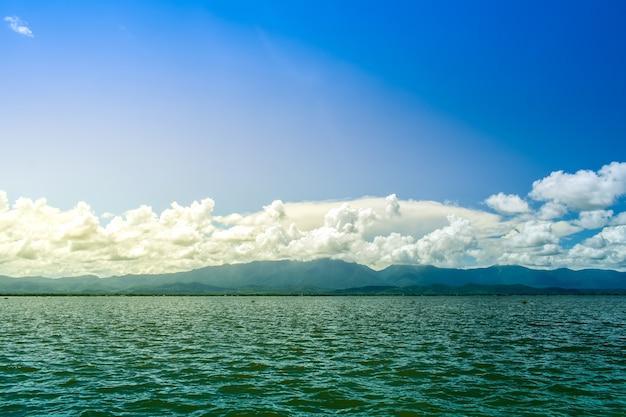 Beautiful sea with sunset or sunrise