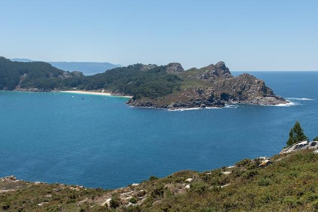 Красивый морской пейзаж, национальный парк атлантических островов,