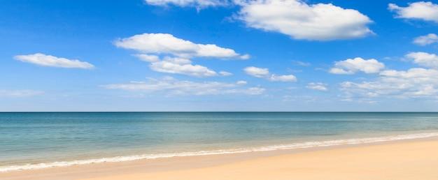 美しい海のパノラマ