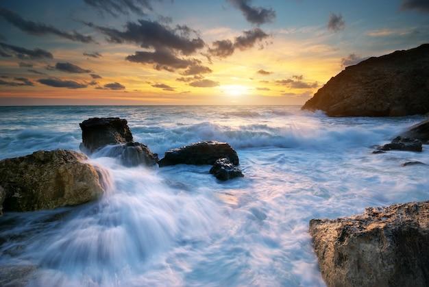 아름다운 바다 경치.