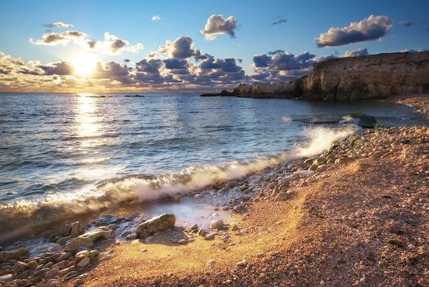 Красивый морской пейзаж.