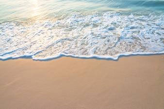 Beautiful seashore with sun reflected