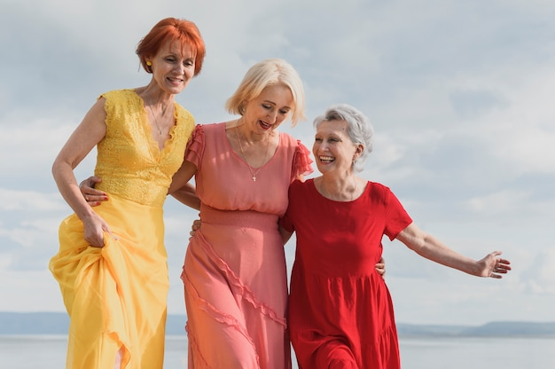 Beautiful senior women together