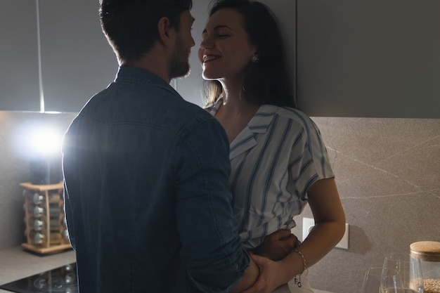 Beautiful and sensual couple showing their love