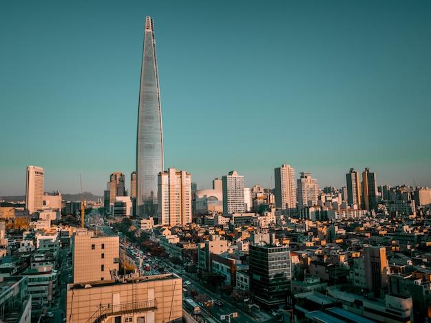 아침 햇살에 아름다운 서울